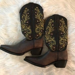 El Patron Floral Embroidered Western Cowgirl Boots